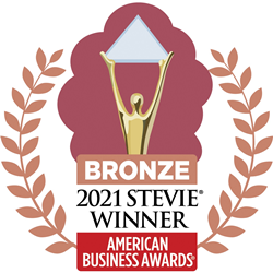 Bronze 2021 Stevie Winner badge from the American Business Awards.