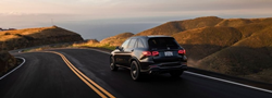 2020 MB GLC exterior rear fascia driver side on road