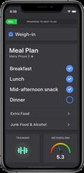 Screenshot of MetPro iPhone App