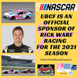 UBCF Sponsors NASCAR Rick Ware Racing with Driver JJ Yeley for 2021 Season