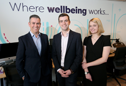 L-R: Founder, Stuart McGoldrick with Co-Founder and CEO, Stephen Costello, and Co-Founder and CCO, Dr. Sarah O'Neill