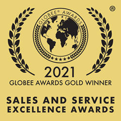 Logo for the 2021 Globee Gold Awards