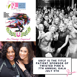UBCF is the Title Patient Sponsor of Twisted Pink's 7th Annual Gala in support of metastatic breast cancer.