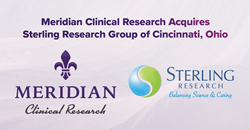 Meridian Clinical Research Acquires Sterling Research Group of Cincinnati, Ohio