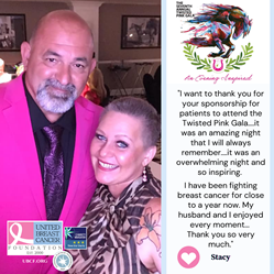 UBCF is the Title Patient Sponsor of Twisted Pink's 7th Annual Gala