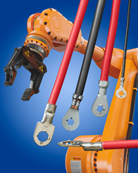 Available with stud holes ranging from #2 through #10, ETCO Locking Ring Terminals are ideal for use in robotic arms and pick-and-place equipment